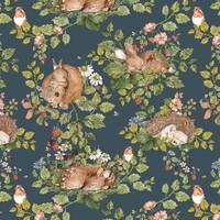 Dekornik wallpaper - Sleepy Animals Dark