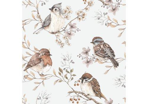 Dekornik - Vögel weißgrau