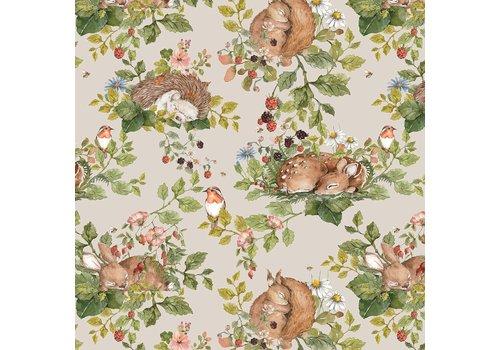 Dekornik wallpaper - Little Sleepy Animals Light
