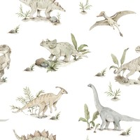 Dekornik behang - Happy Dinos