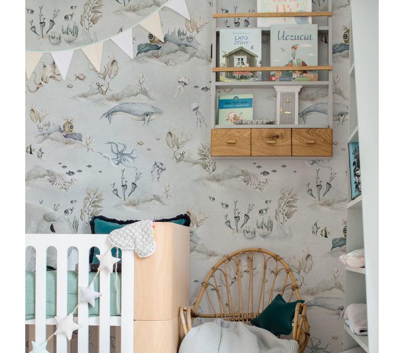 Dekornik wallpaper - Underwater World Gray