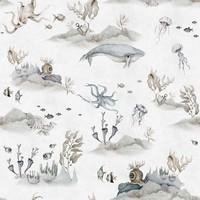 Dekornik Tapete - Unterwasserwelt Weiß