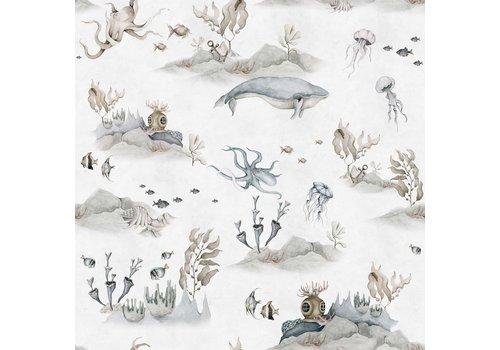 Dekornik wallpaper - Underwater World White
