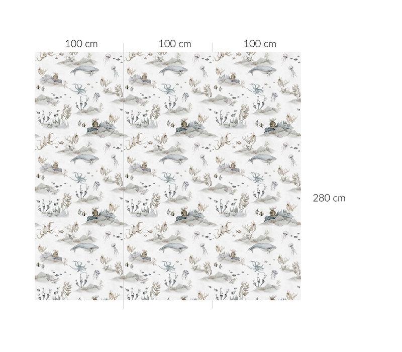 Dekornik behang - Underwater World White