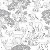 Dekornik Tapete - Tiere Weiß