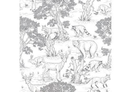 Dekornik wallpaper - Animals White