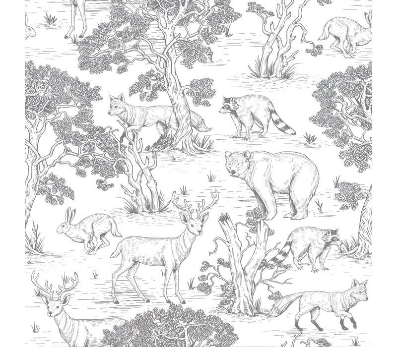 Dekornik behang - Animals White