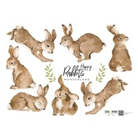 Dekornik stickers - Happy Rabbits Wonderland Set