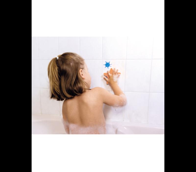 Janod badspeelgoed - kleuren in bad