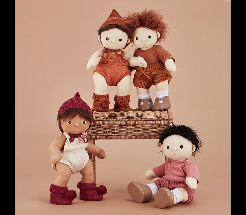 Olli Ella Dinkum Doll Plum Knit set