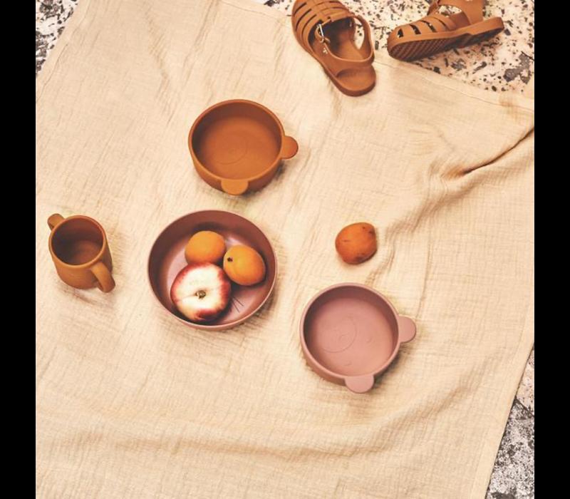 Liewood iggy silicone bowls 4 pack Tuscany rose mix