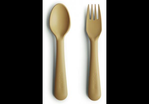 Mushie cutlery set - Mustard