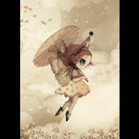 Frau. Mighetto Poster Mein Regenschirm 50 x 70 - Copy