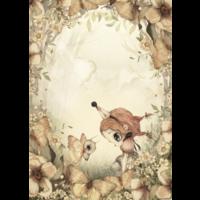 Frau. Mighetto-Poster Der Rosenwald 50 x 70