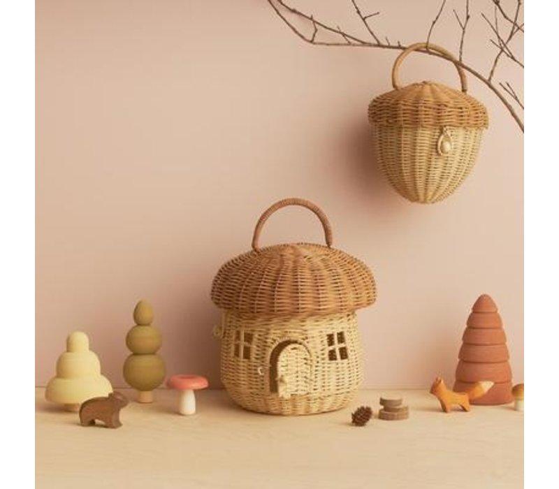 Olli Ella paddenstoel poppenhuis tasje