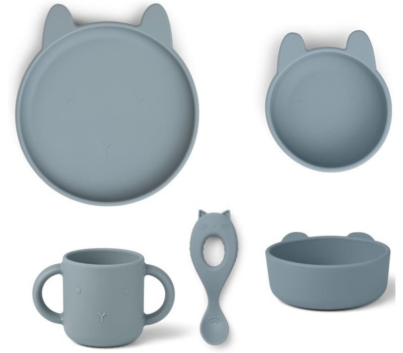 Liewood Vivi silicone set Rabbit sea blue
