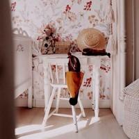 Dekornik Tapete - Herbstwiese Weiß
