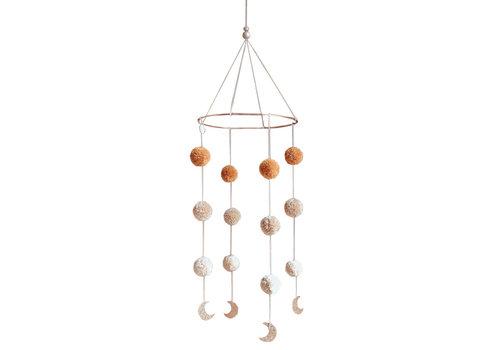 Cotton Design mobile Pompom Mondschein