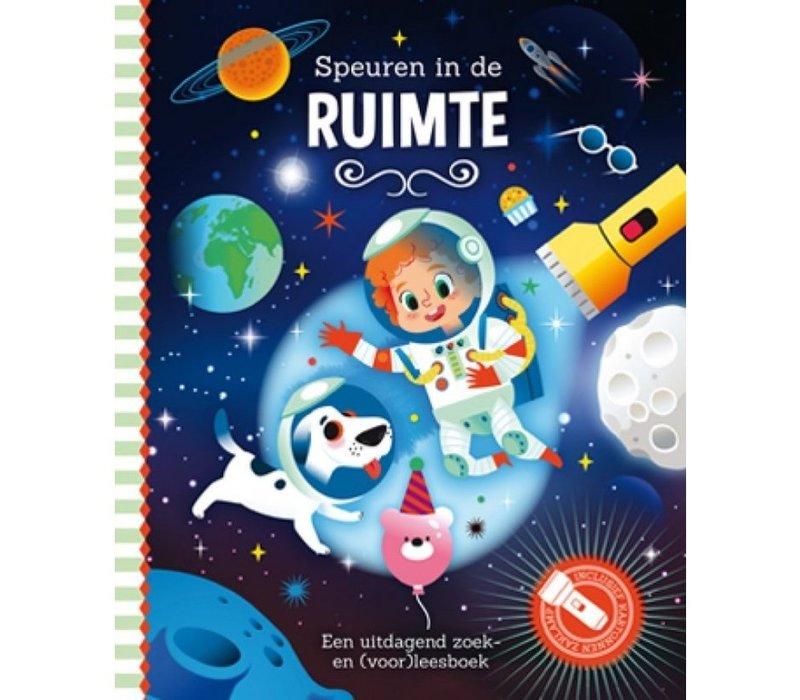 Boek Speuren in de ruimte (zaklampboek)