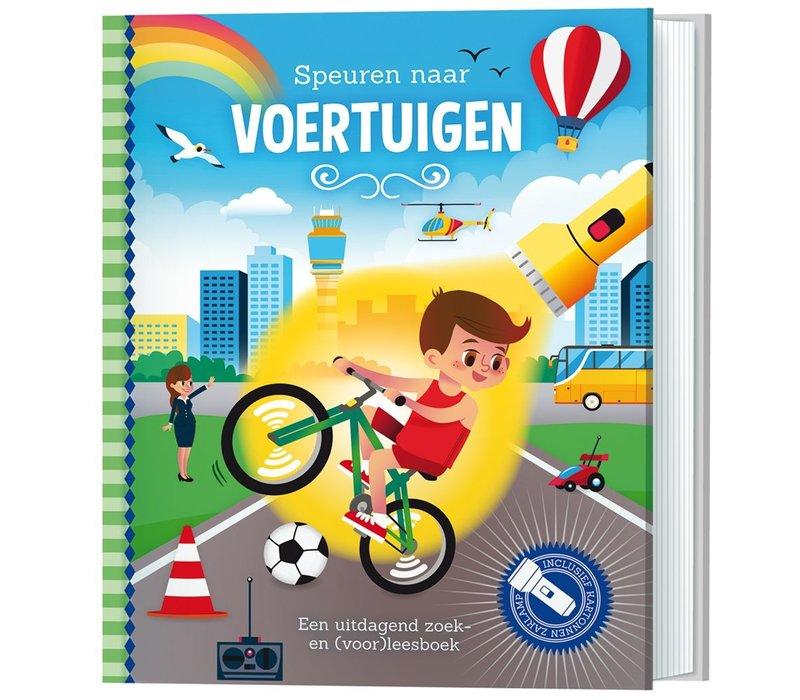 Boek Speuren naar voertuigen (zaklampboek)