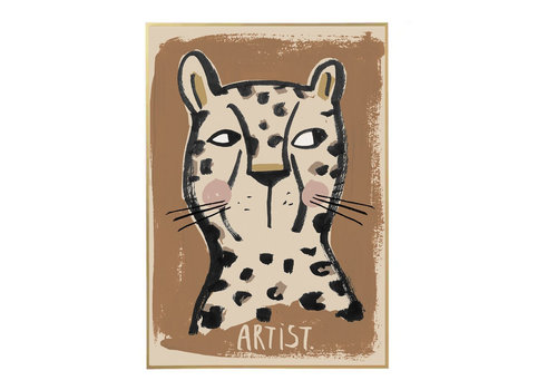Studio Loco poster luipaard 50x70