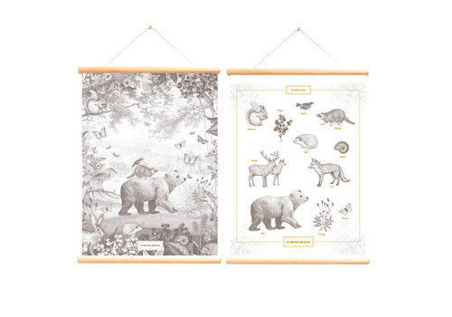 Little & Pure school poster forest animals