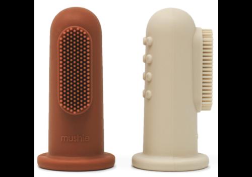 Mushie Baby Zahnbürste - Sand verschieben + Ton