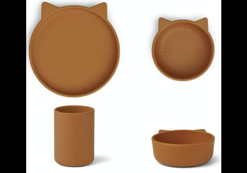 Liewood Cyrus Silikon Junior Set Cat Senf