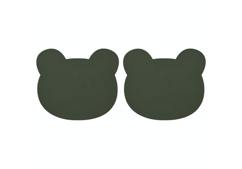 Liewood placemat Gada placemat 2-pack Bear hunter green