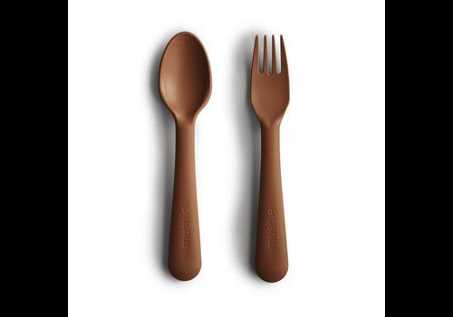 Mushie cutlery set - Caramel
