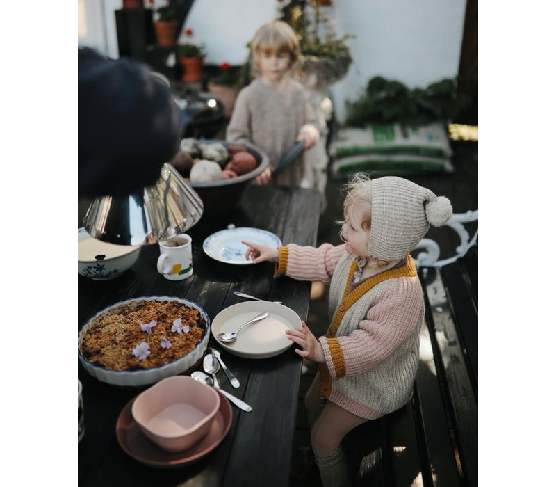 Mushie borden round - Caramel