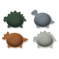 Liewood iggy silicone bowls Dino blue multi mix - 4 pack