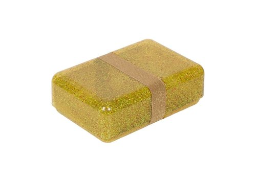 A Little Lovely Company Lunchbox  Glitter goud