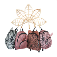 VanPauline Backpack Bunny Warm Pink Dots with name