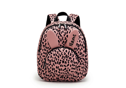 VanPauline Backpack Bunny Pink Leopard with name