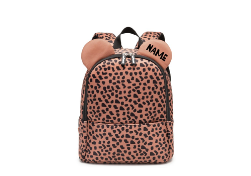 VanPauline Backpack Bear Caramel Spots with name