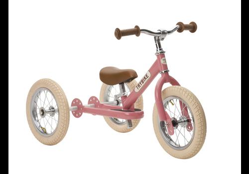 Vintage rosa Dreirad aus Trybike-Stahl