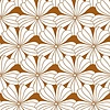 Swedish Linens hoeslaken FLOWERS Cinnamon brown - diverse maten