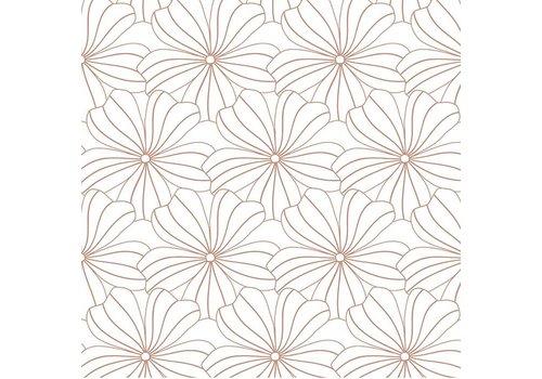 Swedish Linens hoeslaken FLOWERS White - diverse maten