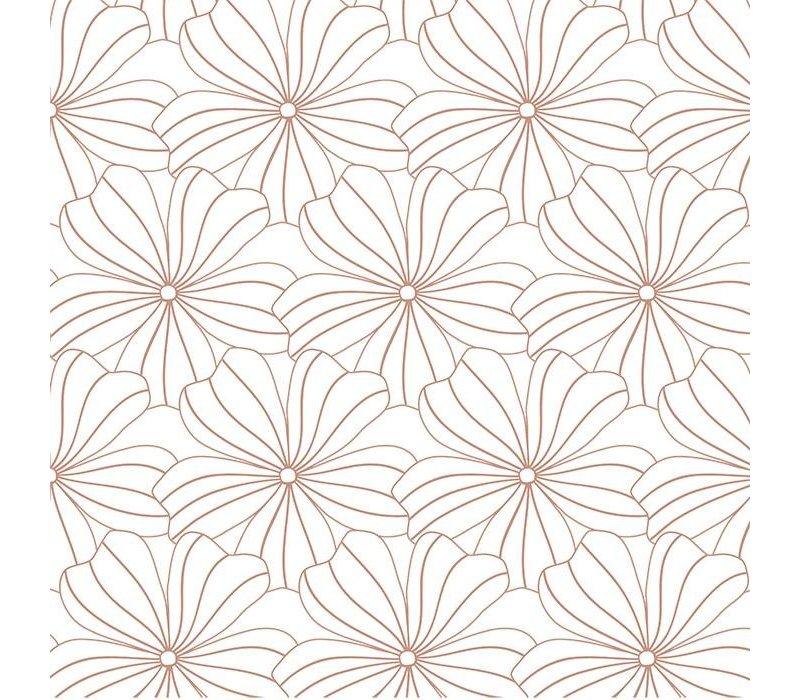 Swedish Linens Flowers hoeslaken white - diverse maten