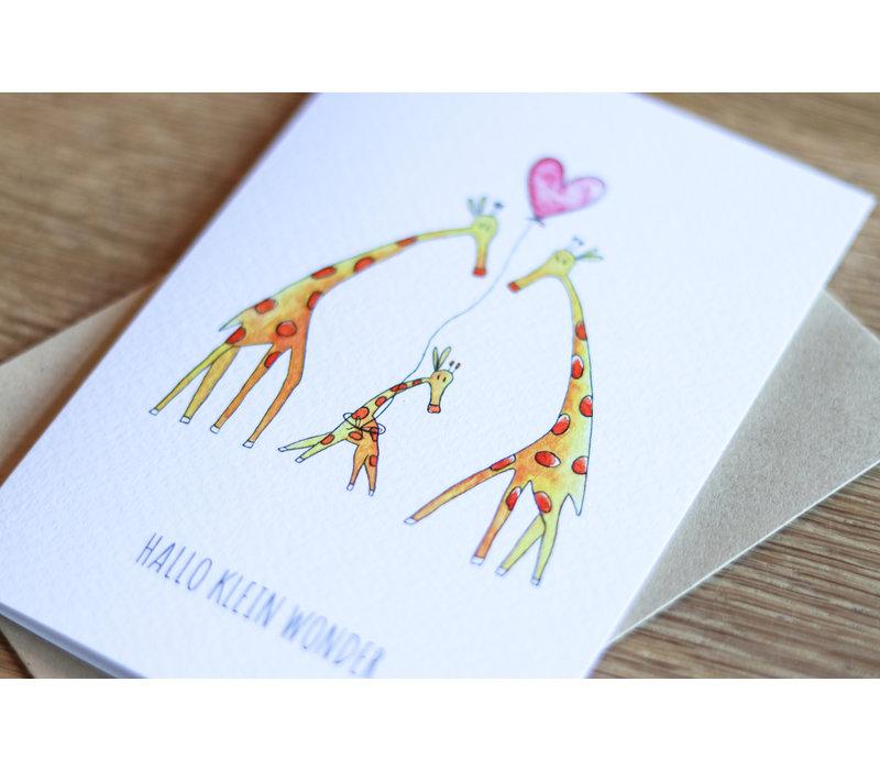 Juulz ansichtkaart Giraffen