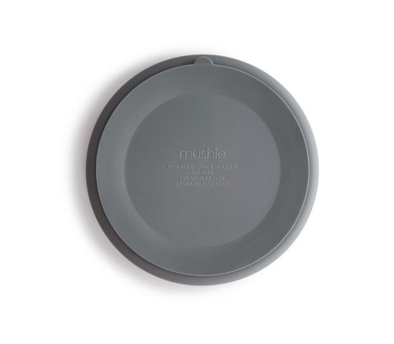 Mushie siliconen bord met zuignap - Stone