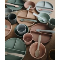 Mushie siliconen bord met zuignap - Natural