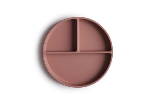 Mushie silicone plate with suction cup - Cloudy Mauve