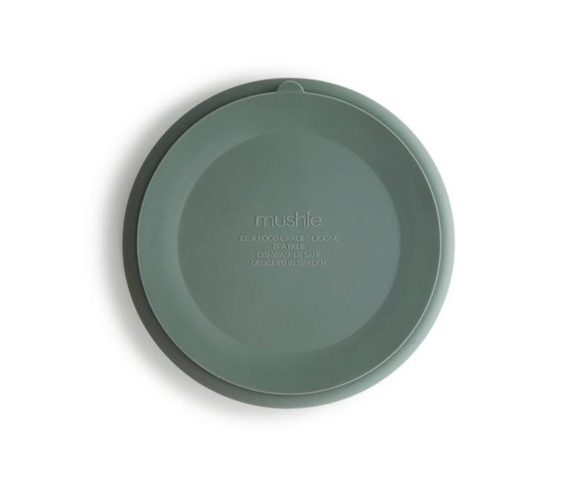 Mushie Silikonplatte mit Saugnapf - Cambridge Blue