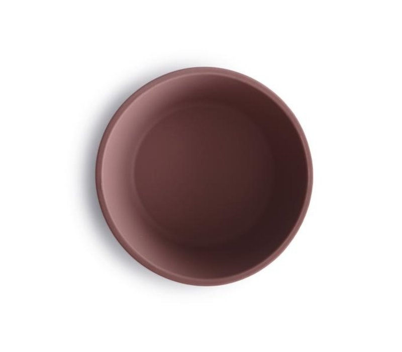 Mushie silicone bowl with suction cup - Cloudy Mauve