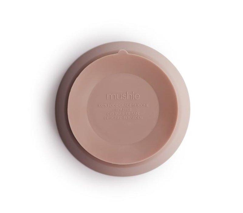 Mushie siliconen kom met zuignap - Blush