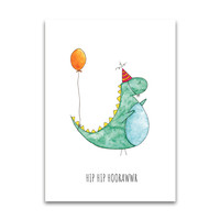 Juulz postcard Party dinosaur
