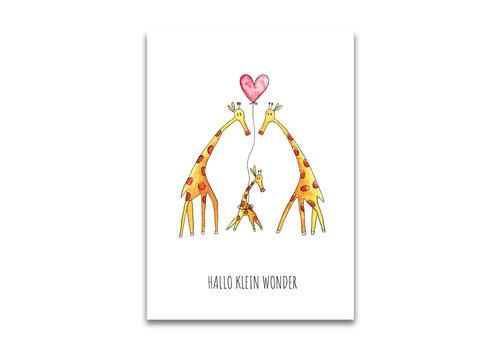 Juulz postcard Giraffes