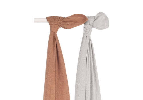 Jollein hydrophilic swaddle bamboo Caramel 115x115cm (2pack)